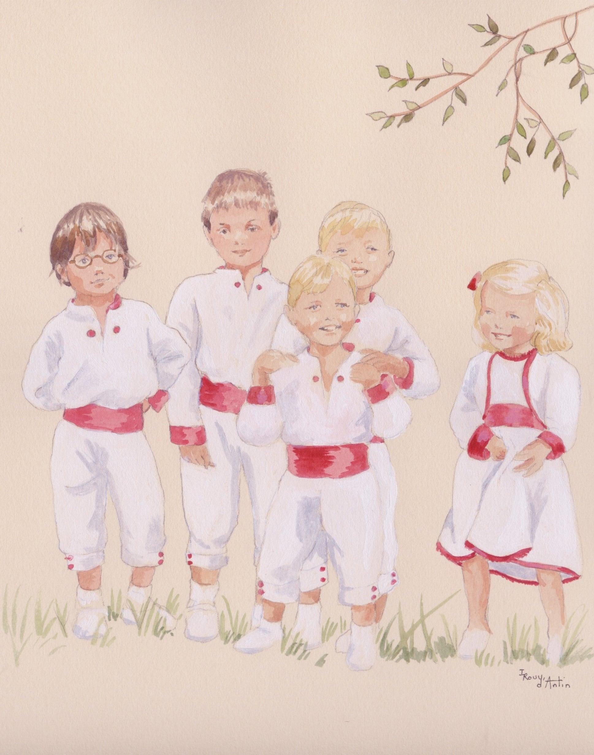 Cortège de mariage peint