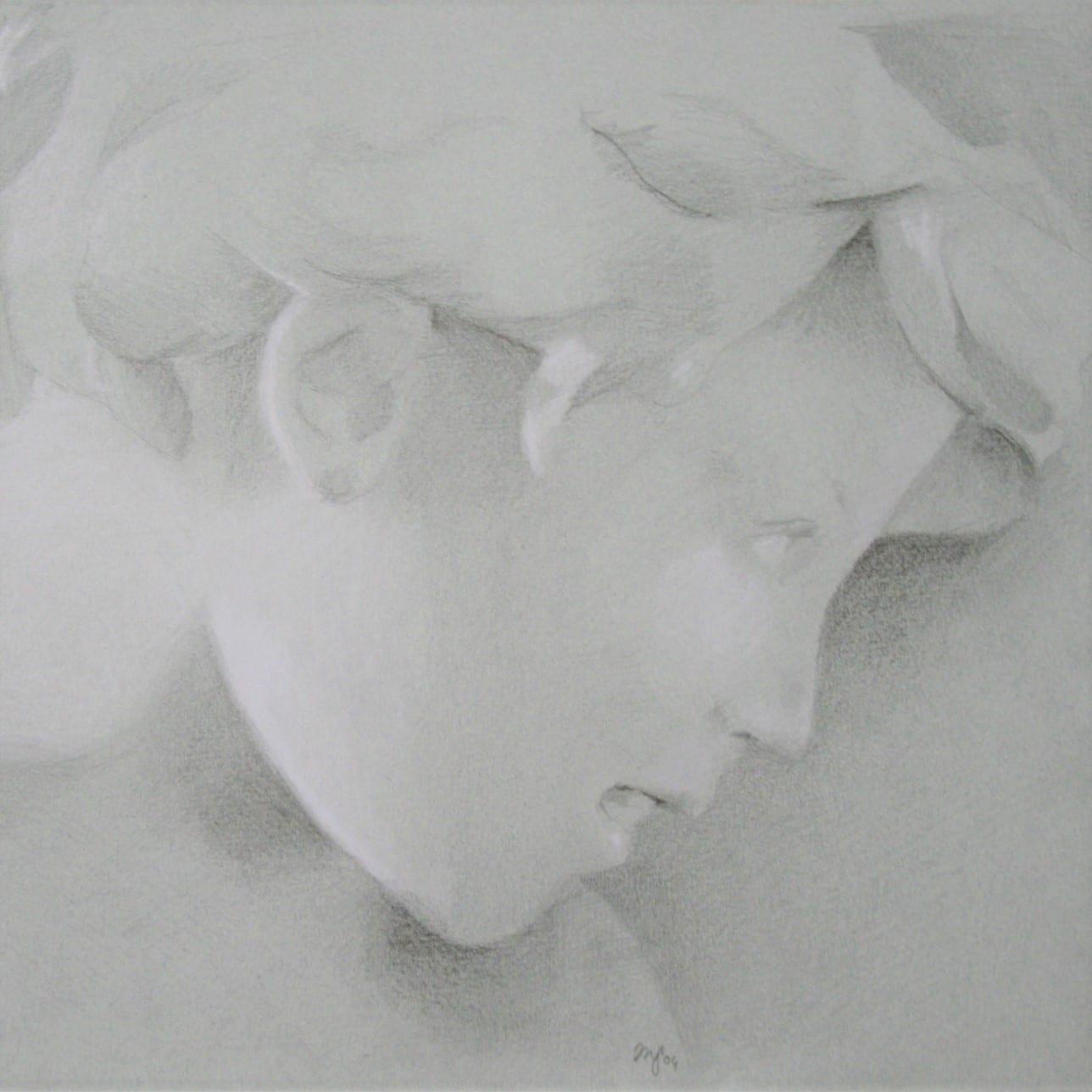 Profil d'enfant au crayon