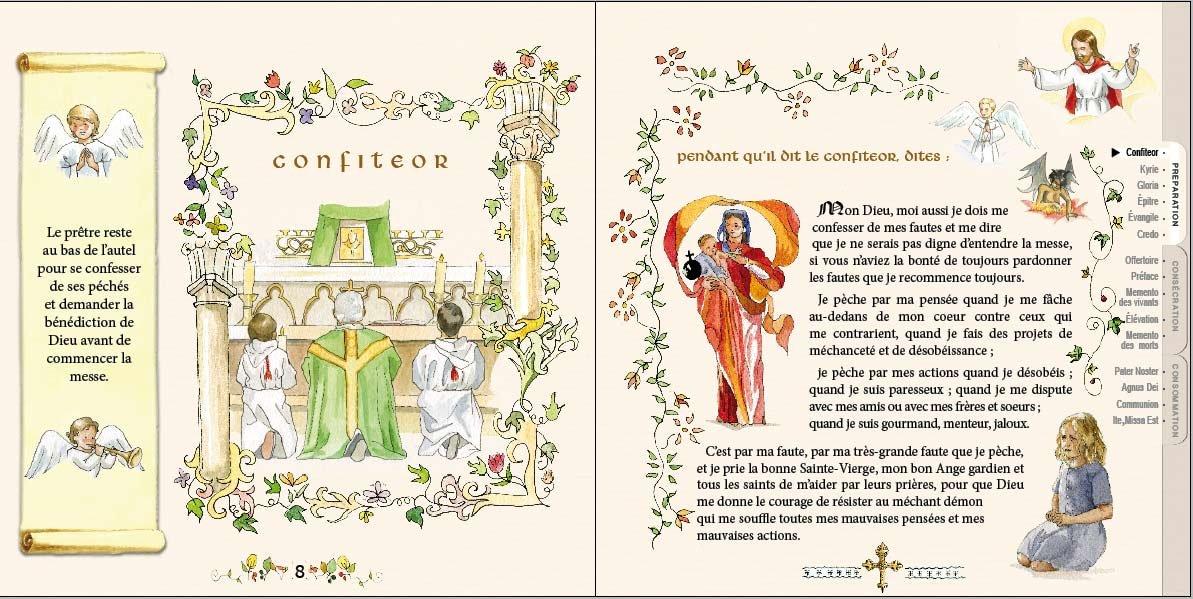 Intérieur du livre de messe des petits enfants