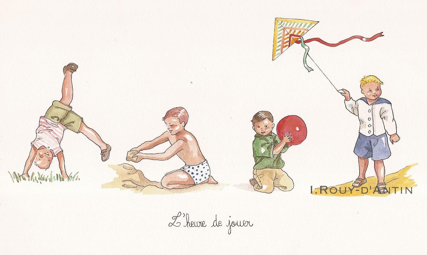 """Poster """"L'heure de jouer"""" garçons"""