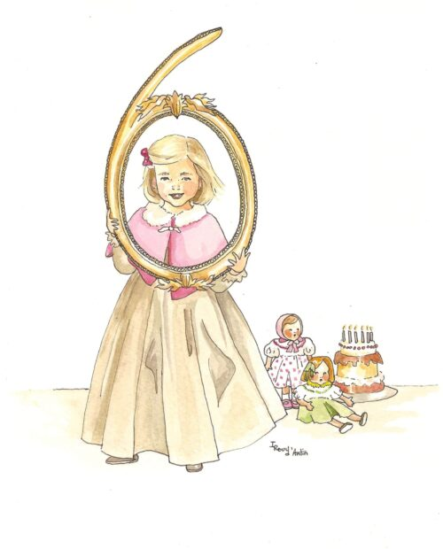 Carton d'invitation fille 6 ans